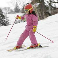 Kids rent skis for free